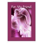 Para mi amigo - tarjeta de felicitación del ángel