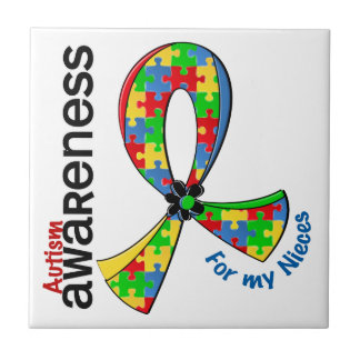 Para mi autismo de las sobrinas azulejo cuadrado pequeño