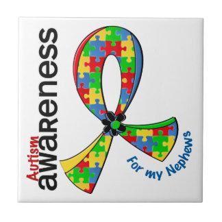 Para mi autismo de los sobrinos azulejo cuadrado pequeño