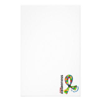 Para mi autismo del nieto papelería de diseño