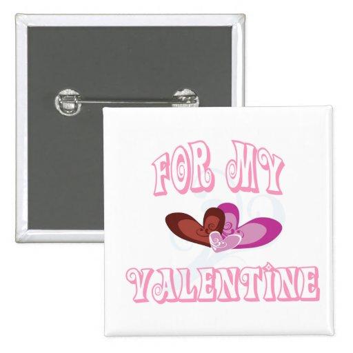 Para mi botón de la tarjeta del día de San Valentí Pins