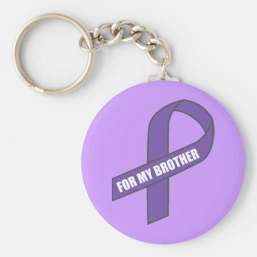 Para mi Brother (cinta púrpura) Llavero Personalizado