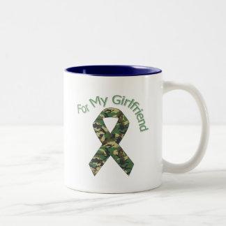 Para mi cinta de los militares de la novia taza de dos tonos