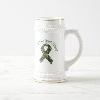 Para mi cinta de los militares del mejor amigo jarra de cerveza