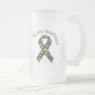 Para mi cinta de los militares del novio taza de cristal