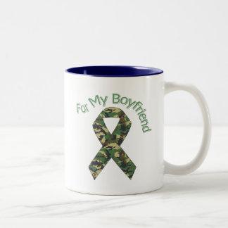 Para mi cinta de los militares del novio taza de dos tonos