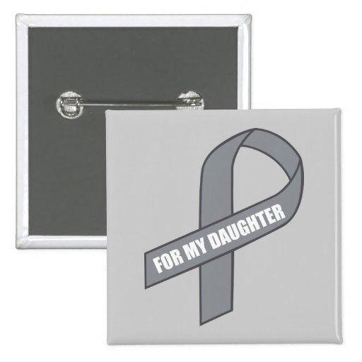 Para mi cinta gris/de plata de la hija (de la pin cuadrado
