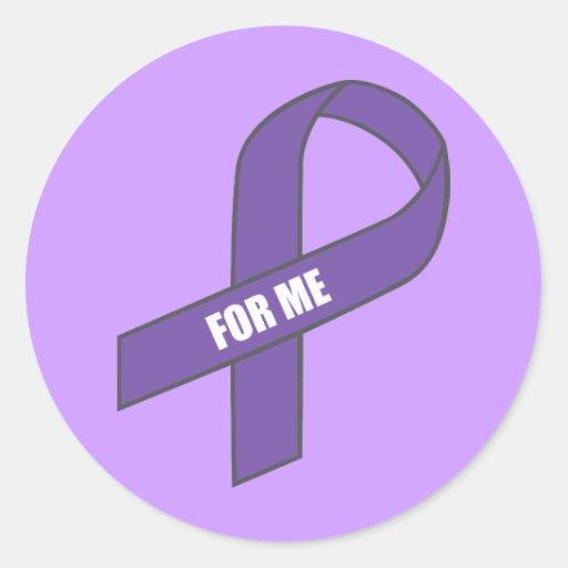 Para mí (cinta púrpura) etiqueta redonda
