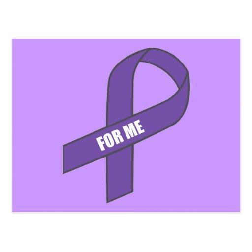 Para mí (cinta púrpura) postal