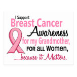 Para mi conciencia del cáncer de pecho de la abuel tarjeta postal