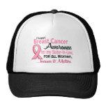Para mi conciencia del cáncer de pecho de la cuñad gorras