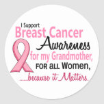 Para mi conciencia del cáncer de pecho de la pegatinas redondas