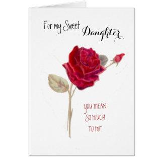 Para mi cumpleaños dulce de la hija tarjeta de felicitación