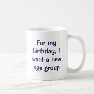 Para mi cumpleaños, quiero a una nueva categoría taza