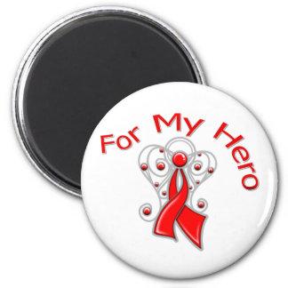Para mi enfermedad cardíaca de la cinta del ángel  imán para frigorifico