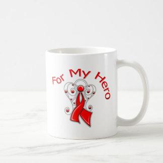 Para mi enfermedad cardíaca de la cinta del ángel  tazas