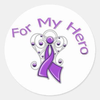 Para mi enfermedad de Alzheimer de la cinta del Pegatina Redonda
