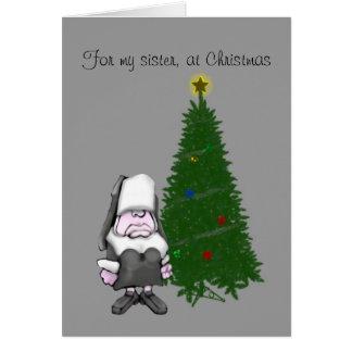 , Para mi hermana, en el navidad Tarjeta De Felicitación