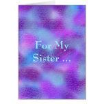 Para mi hermana, sobriedad tarjeta de felicitación