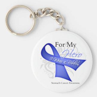 Para mi héroe llevo a un cáncer de estómago de la  llavero