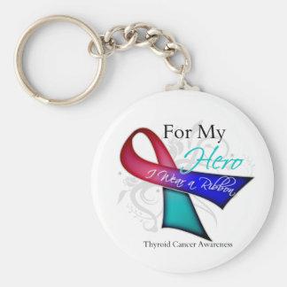 Para mi héroe llevo a un cáncer de tiroides de la  llavero