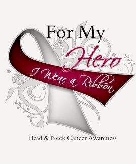 Para mi héroe llevo a un cáncer del cuello de la c camisetas