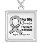 Para mi héroe mi abuelo - cáncer de cerebro collar personalizado