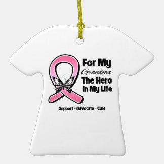 Para mi héroe mi cáncer de pecho de la abuela ornamento para reyes magos