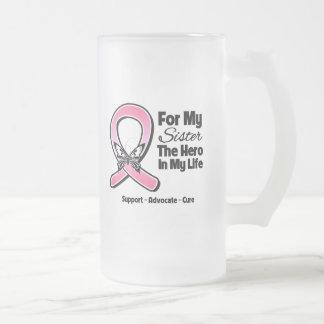 Para mi héroe mi cáncer de pecho de la hermana tazas