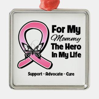 Para mi héroe mi cáncer de pecho de la mamá ornamente de reyes