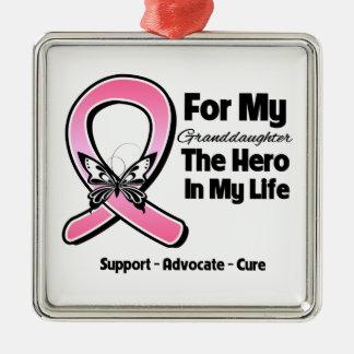 Para mi héroe mi cáncer de pecho de la nieta adornos