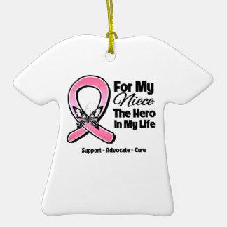 Para mi héroe mi cáncer de pecho de la sobrina ornamento de reyes magos