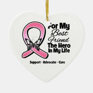 Para mi héroe mi cáncer de pecho del mejor amigo adorno