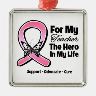 Para mi héroe mi cáncer de pecho del profesor adorno de reyes