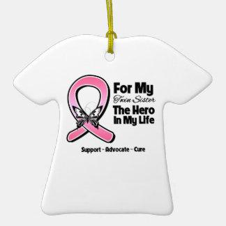 Para mi héroe mi cáncer de pecho gemelo de la ornato