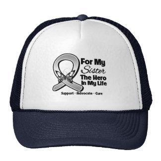 Para mi héroe mi hermana - cáncer de cerebro gorras de camionero