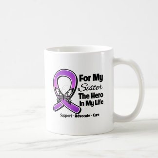 Para mi héroe mi hermana - conciencia púrpura de l tazas de café