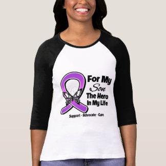 Para mi héroe mi hijo - conciencia púrpura de la camiseta
