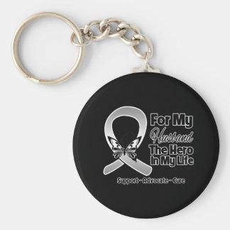 Para mi héroe mi marido - cáncer de cerebro llavero