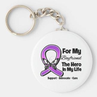 Para mi héroe mi novio - conciencia púrpura de la llavero redondo tipo pin