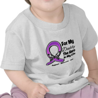 Para mi héroe mi papá - conciencia púrpura de la camiseta