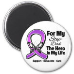 Para mi héroe mi Paso-Papá - conciencia púrpura de Imán Para Frigorífico