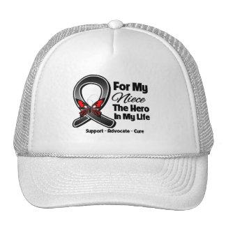 Para mi héroe mi sobrina - cáncer de piel del mela gorra
