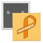 Para mi hija (cinta anaranjada) pin