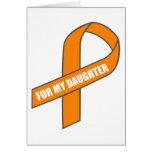 Para mi hija (cinta anaranjada) tarjetón