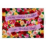 Para mi hija maravillosa el el día de madre - rosa felicitación