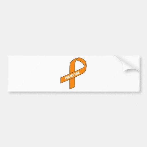 Para mi hijo (cinta anaranjada) etiqueta de parachoque