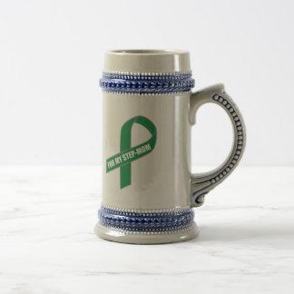 Para mi madrastra cinta verde taza