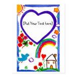 Para mi mamá - arte por personalizar de los niños tarjeta postal