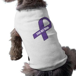 Para mi mamá (cinta púrpura) playera sin mangas para perro